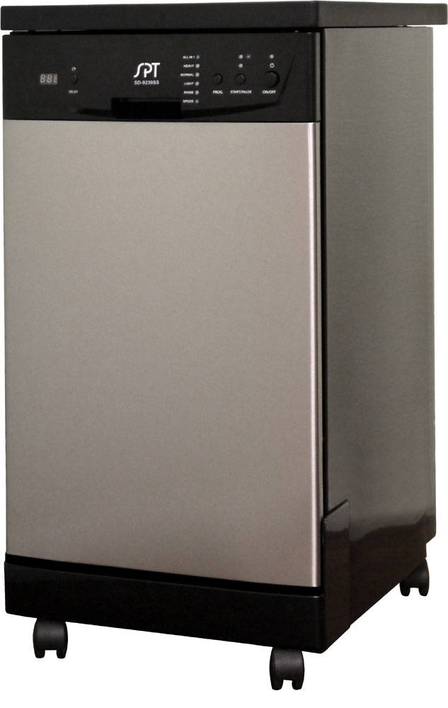 Sd 9241ss 18 Energy Star Portable Dishwasher Stainless Steel Sunpentown Com