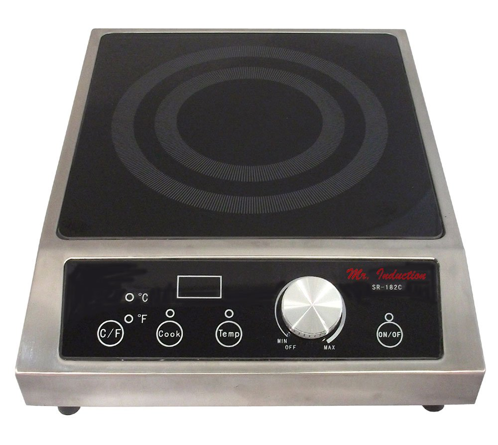 Mr Induction SPT SR-34AC 3400W Commercial Countertop Range Induction Cooktop